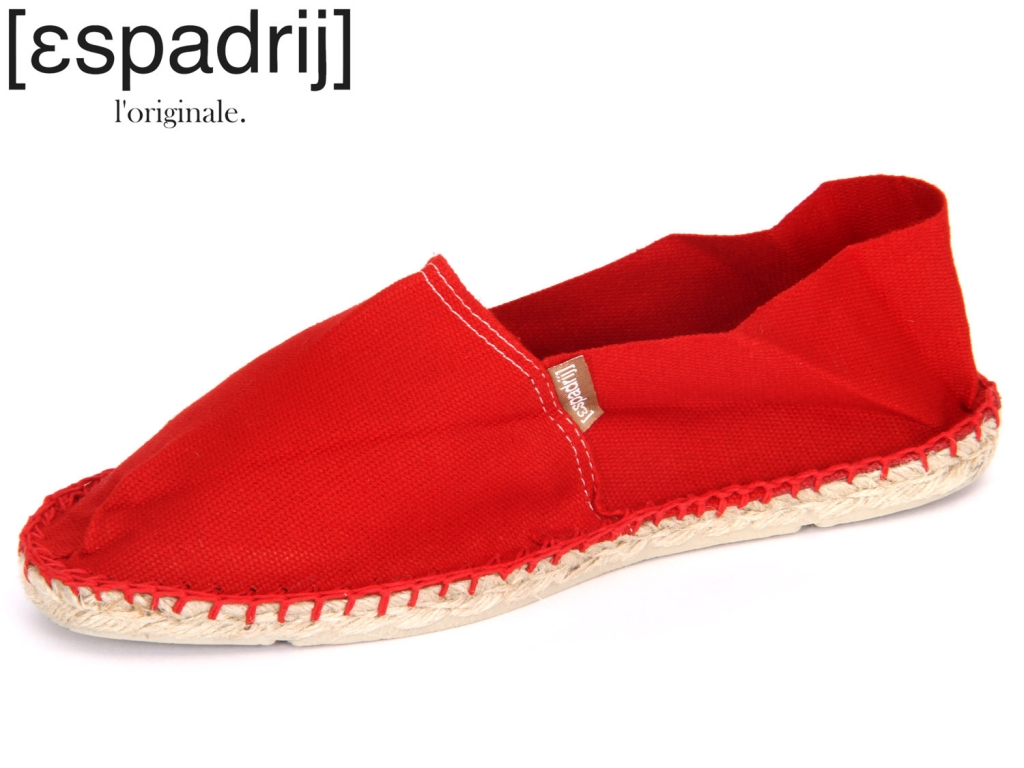 Espadrij Classic rouge rouge Baumwolle