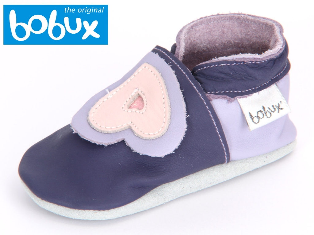 Bobux Duble Hearts 4062 purple