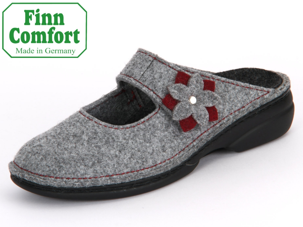 Finn Comfort Arlberg 06560-901198 light grey-cassis Wollfilz