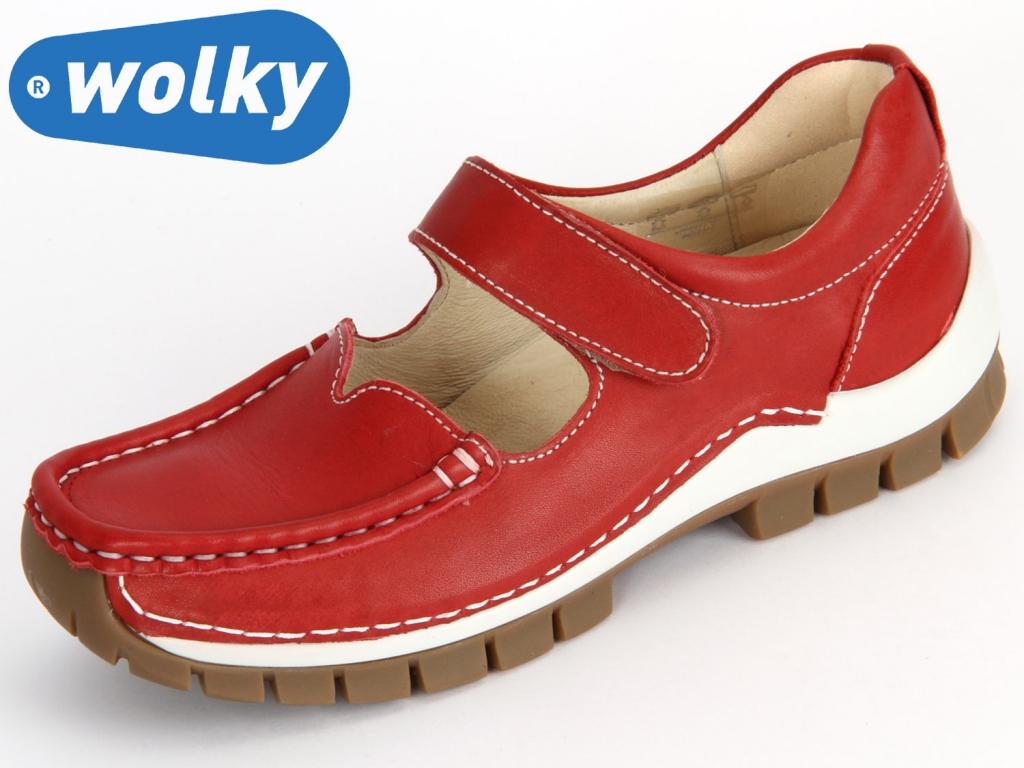 Wolky Rush 4704250 alarm red Velvet Leather