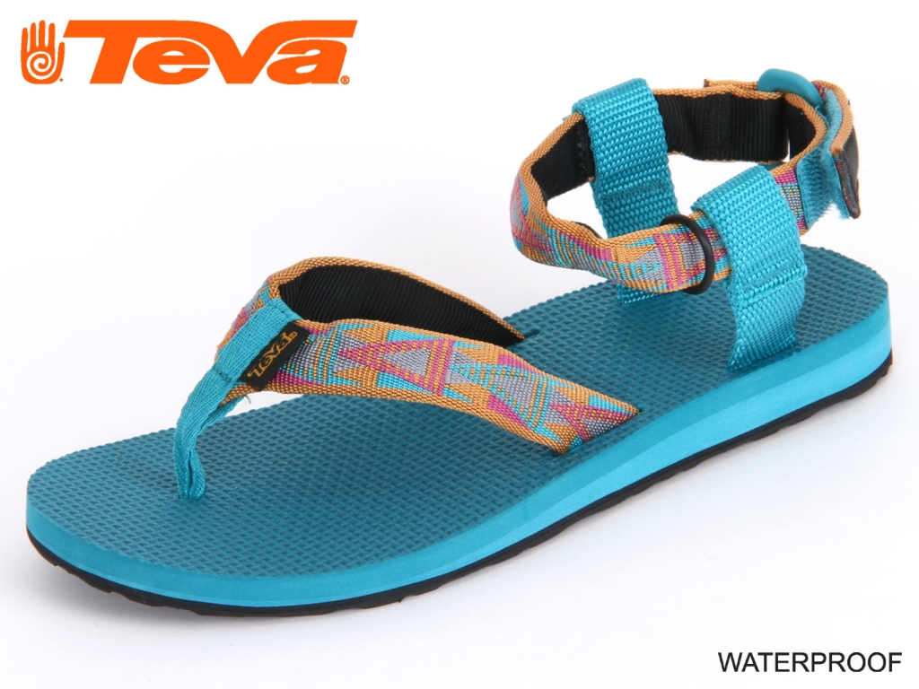 teva original sandal w s mosaic orange textil schuhhaus kocher gute schuhe gesunde. Black Bedroom Furniture Sets. Home Design Ideas