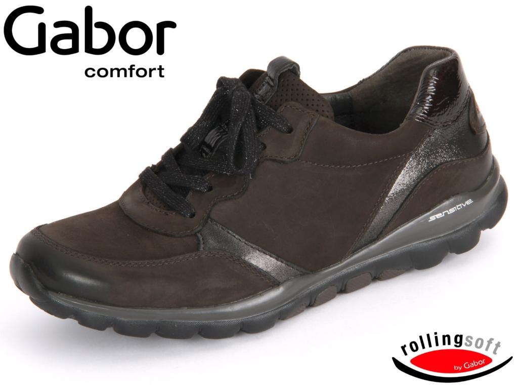 Gabor 36-968-80 anthrazit Nubuk Glitter Lack