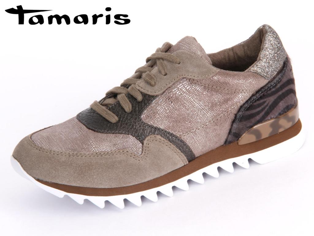 Tamaris 1-23610-35-301 pepper combi Textile Suede