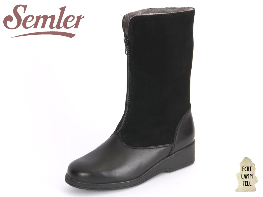 Semler Sella S18864124001 schwarz Soft-Nappa Kalbvelour