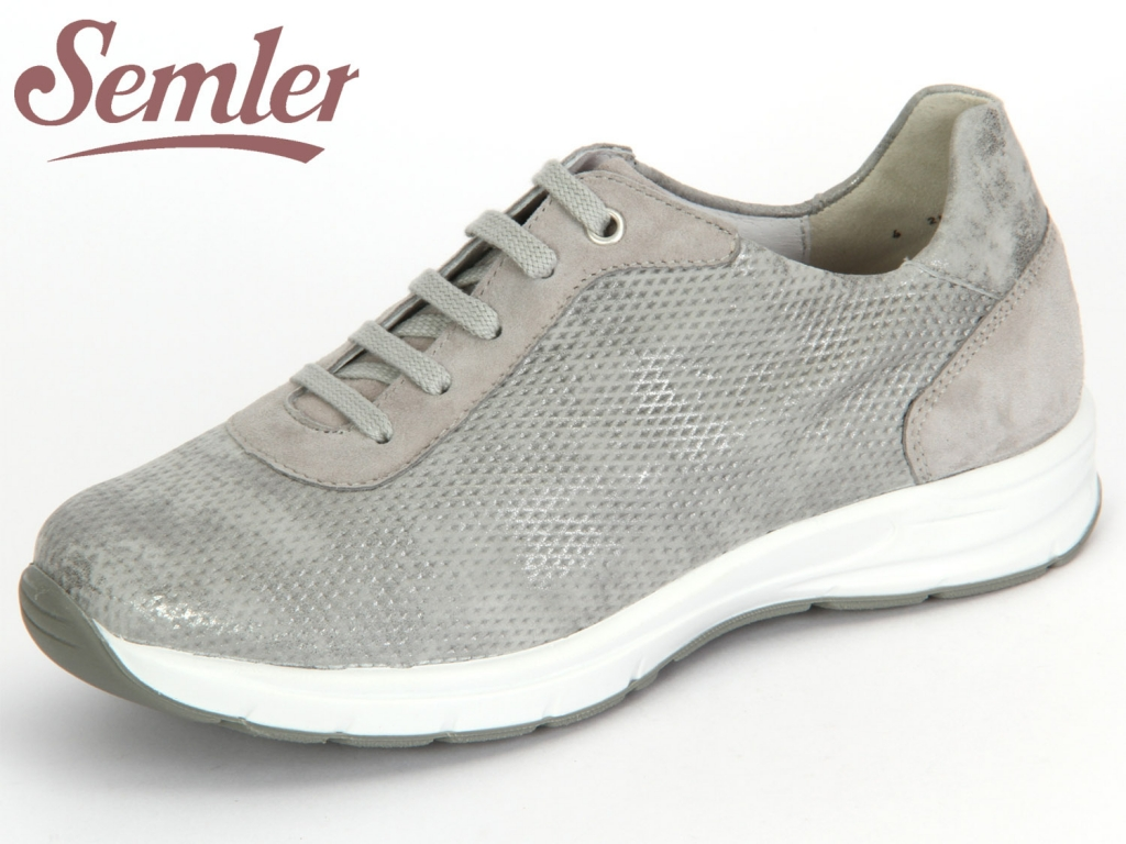 Semler Ulla U5035-377-784 grigio-perle Metall Velour-Samt Chevro