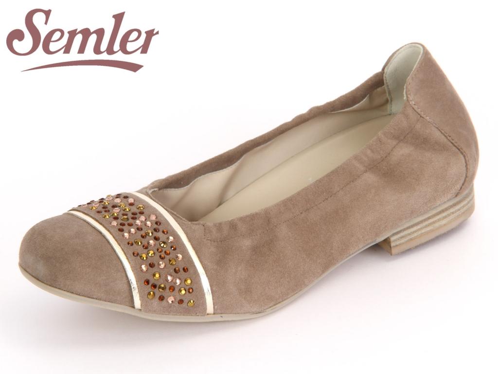 Semler Desiree D2258-471-762 panna gold Samtchevreau Metall Nappa