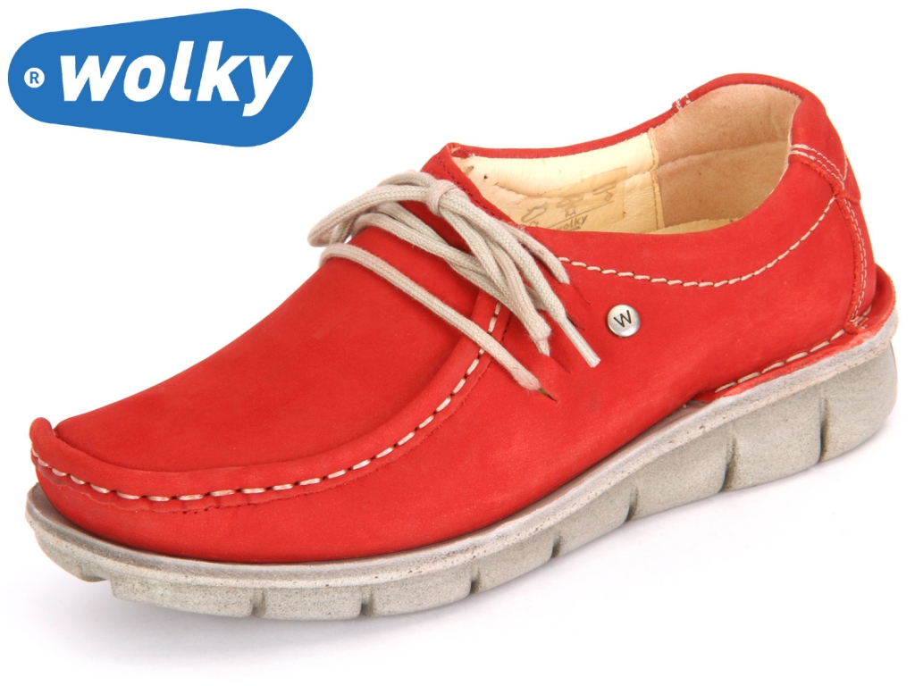 Wolky Dutch 1625157 red summer Washed Nubuk