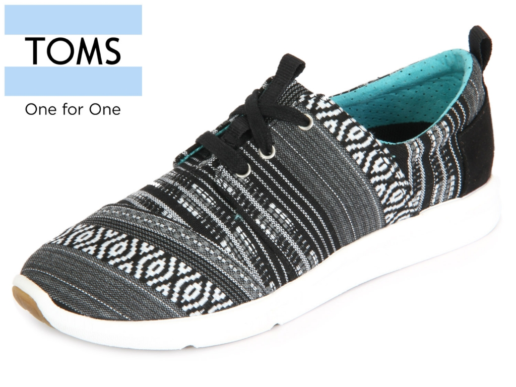 TOMS Del Rey 10007907 Black White Cultural Woven