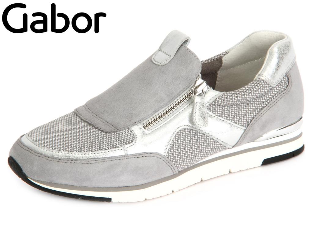 Gabor 44.323.49 shark-stone-ice SqareMesh-Samt Metallic