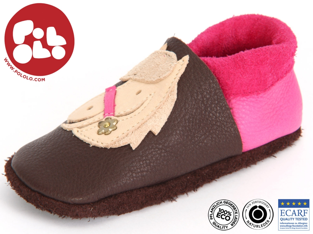 Pololo Polly POLLY-621 castagno pink pflanzlich gegerbtes Leder