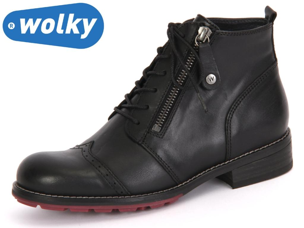 Wolky Millstream 4440200 black Velvet Leather