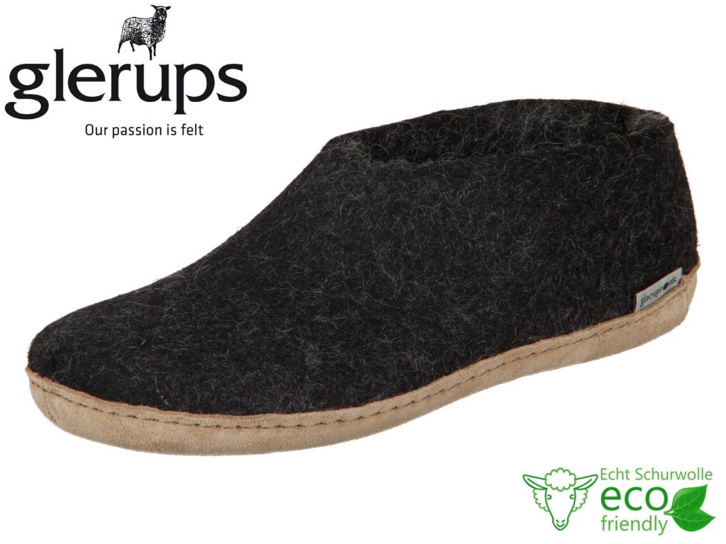 glerups dk Shoe A-02-00 charcoal Lammwollfilz