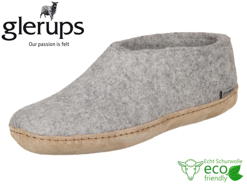 glerups dk Shoe A-01-00 grey Lammwollfilz