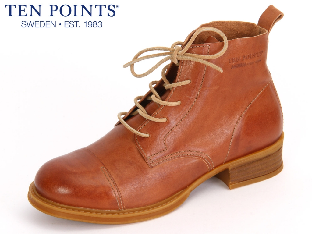 Ten Points Pandors 123 002-319 cognac Leather