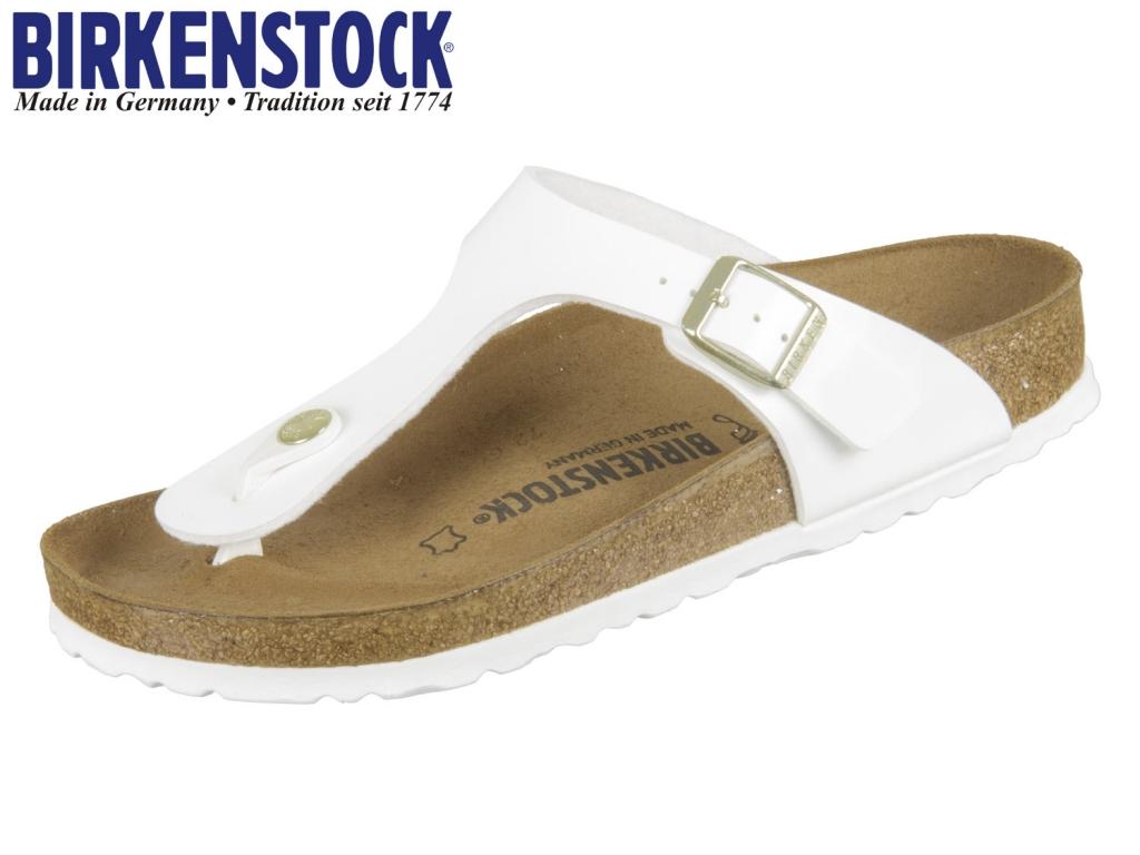 Birkenstock Gizeh 1005299 white Patent Birko Flor