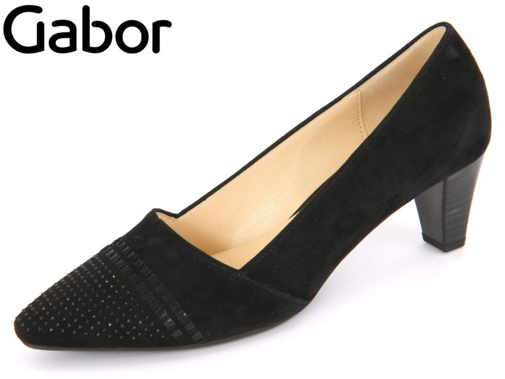 Gabor 65.146-17 schwarz Samtchevrau Boxcalf