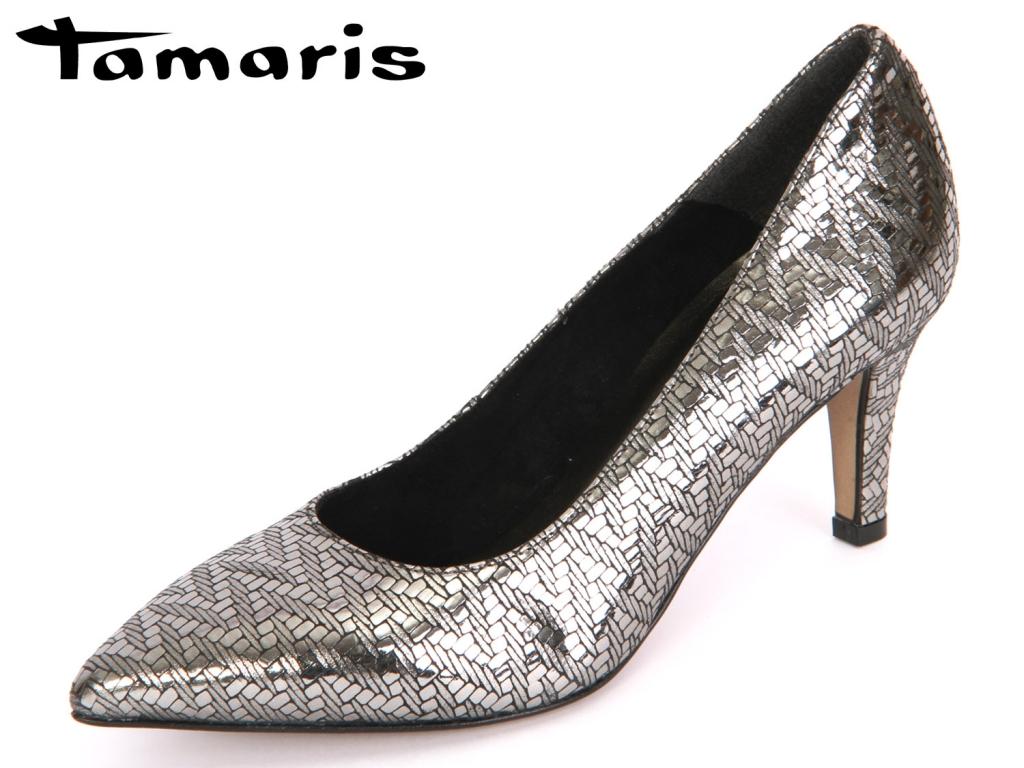 Tamaris 1-22450-37-964 pewter structur Leder