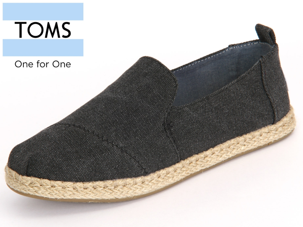 TOMS 10009834 black Washed Canvas