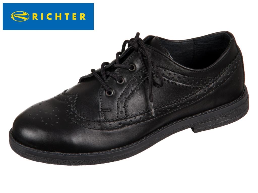 Richter 3921.941.9900 black Glattleder