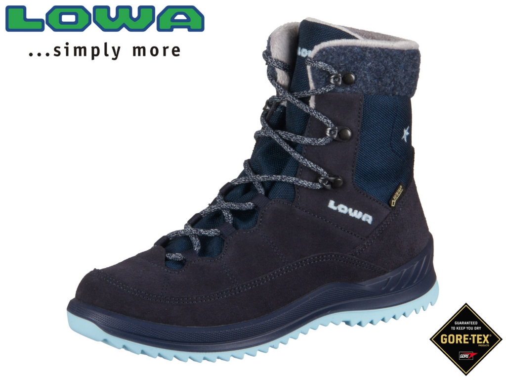 Lowa Calcetina GTX mid 640549  6917 navy eisblau Leder-GTX