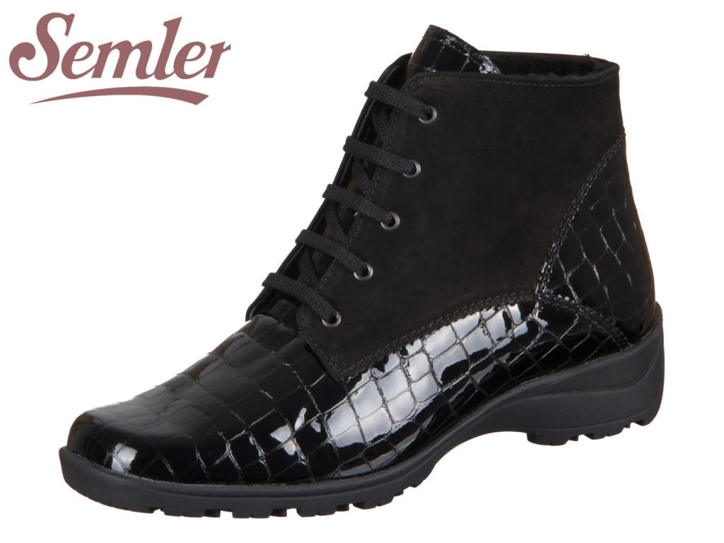Semler Daniela D1056-660-3001 schwarz Kroko Nubukina
