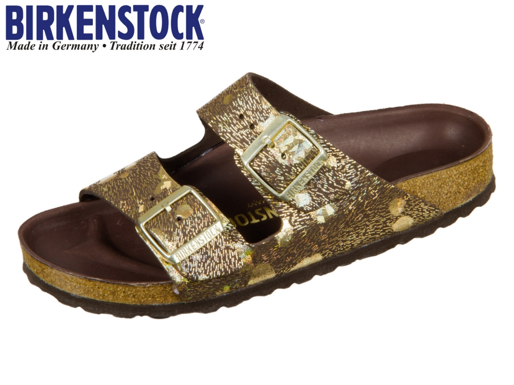 Birkenstock Arizona HEX 1006041 metallic brown Natural Leather Spotted