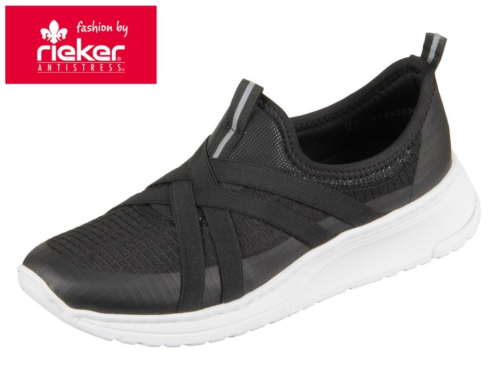 Rieker N5050-01 schwarz Foil Lefko