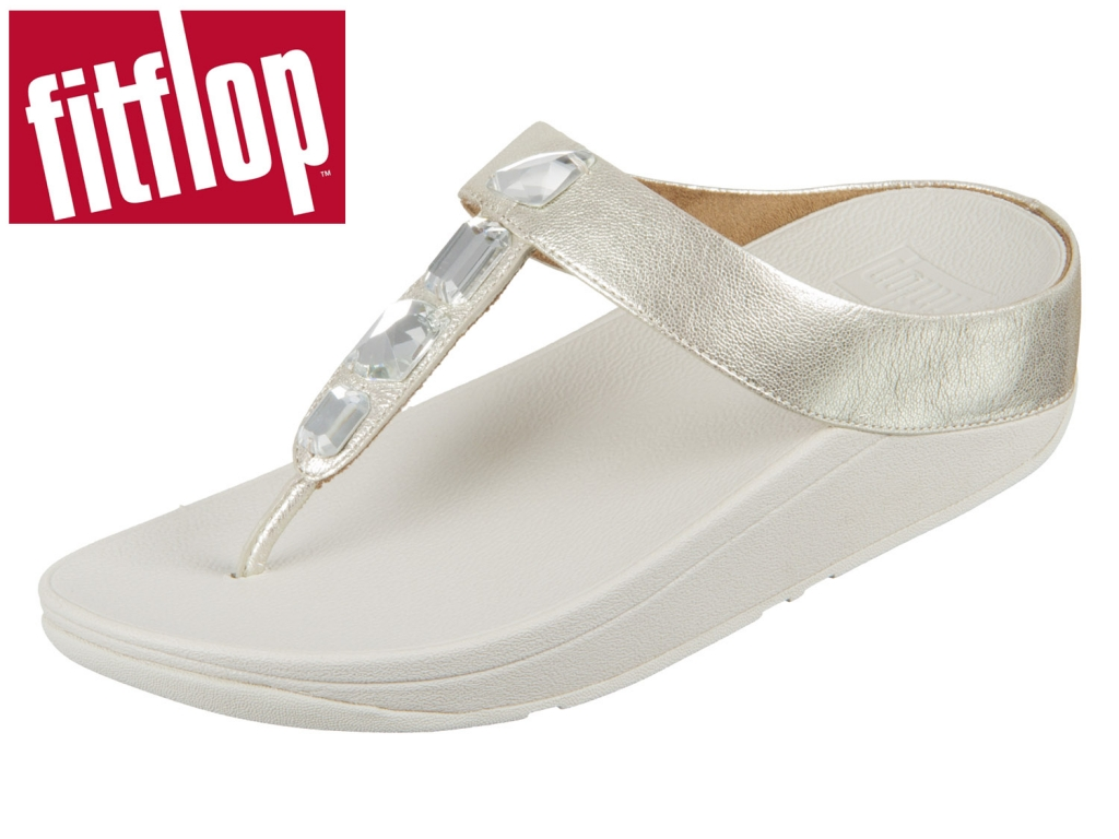 fitflop Roka Toe Thong Sandals K05-011 silver Leather