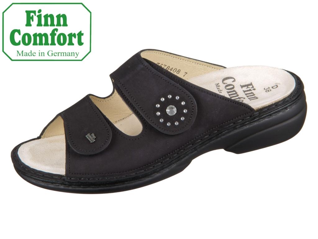 Finn Comfort Beverly S 82574-007099 schwarz Nubuk Swarovskisteine