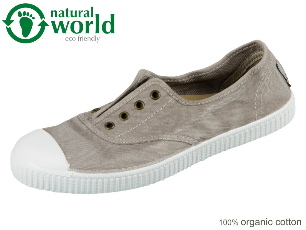 natural world W70777-170 gris clarc taupe organic cotton