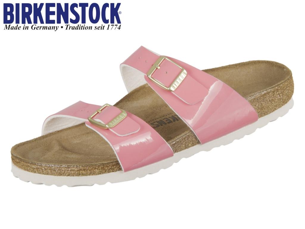 Birkenstock Sydney 1008544 two tone cream coral Birkoflor Patent