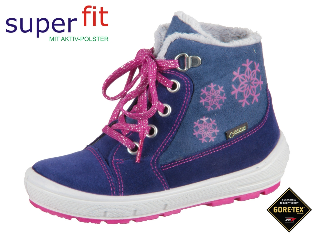 SuperFit GROOVY 3-09307-80 blau rosa Velour Textil