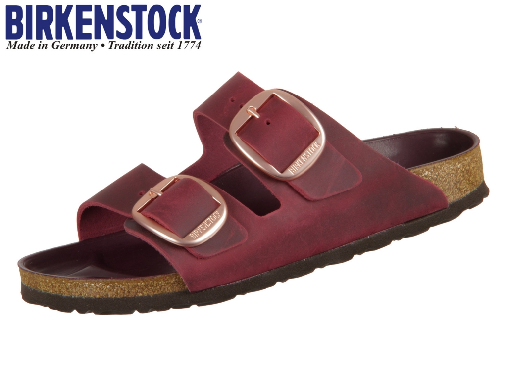 Birkenstock Arizona Big Buckle 1011077 zinfandel Fettleder