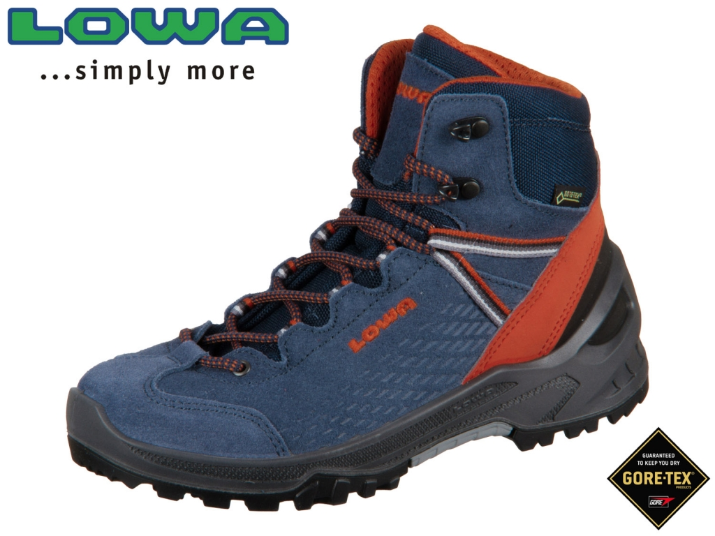 Lowa Ledro GTX Mid Junior 340108 6021 blau orange GTX