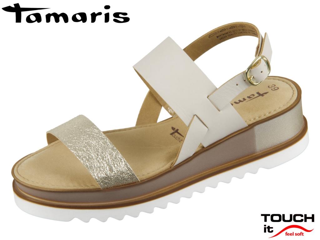 Tamaris 1-28226-22-397 taupe gold Mix Leder Synthetik