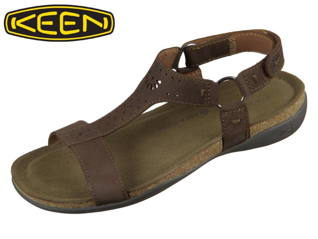 Keen Ana Kaci Strap Sandal 1020447 dark earth Leder