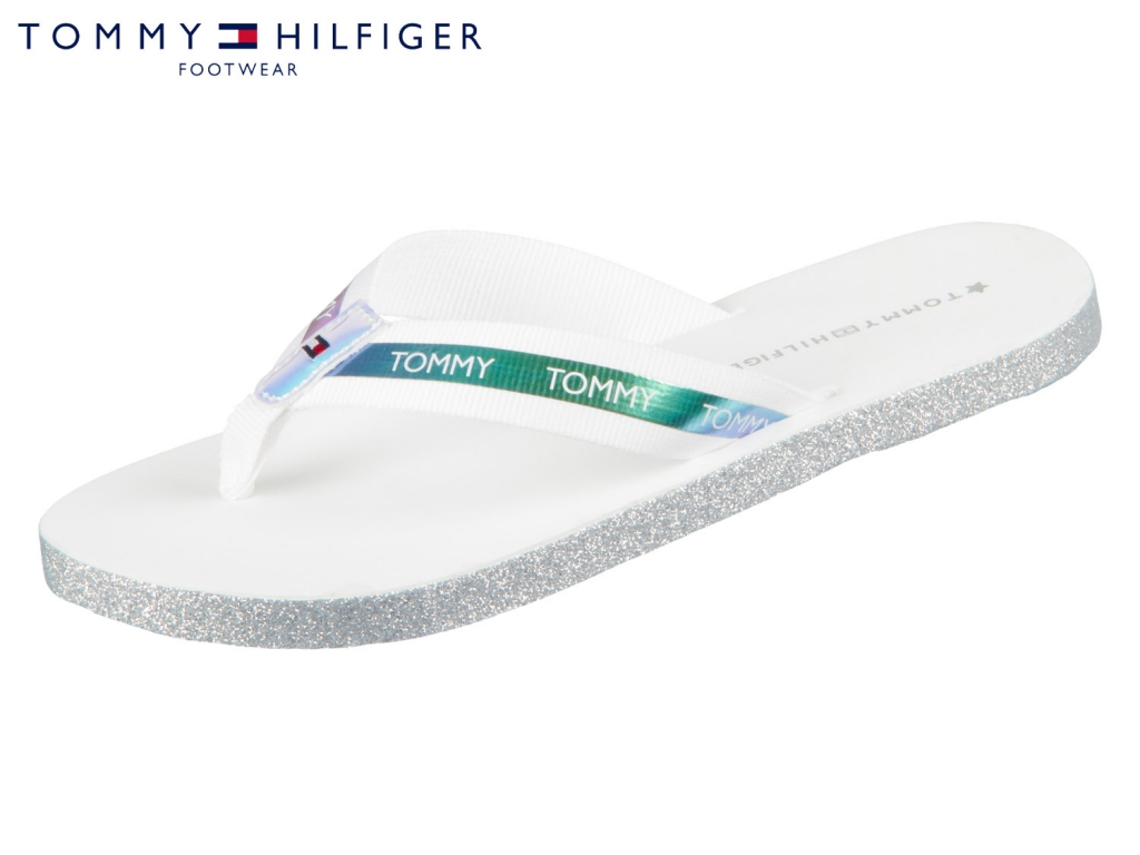 Tommy Hilfiger Flat Beach Sandal Iridescent FW0FW04016-100 white