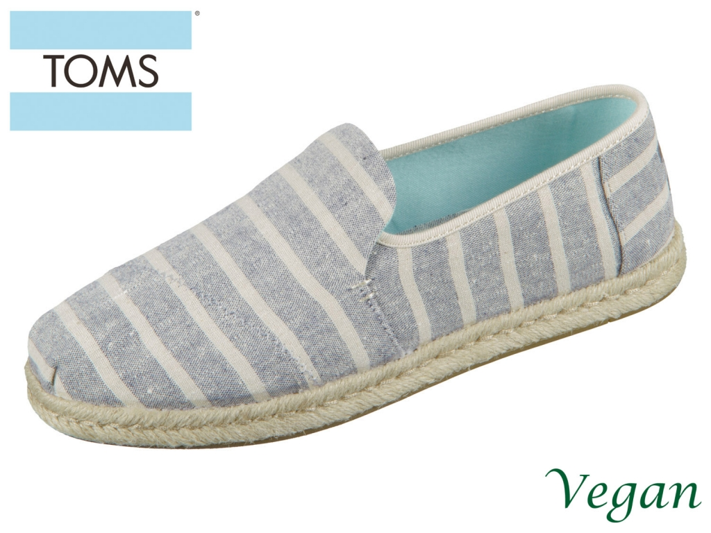 TOMS Deconstructed Alpargata Rope 10013374 navy stripes Canvas