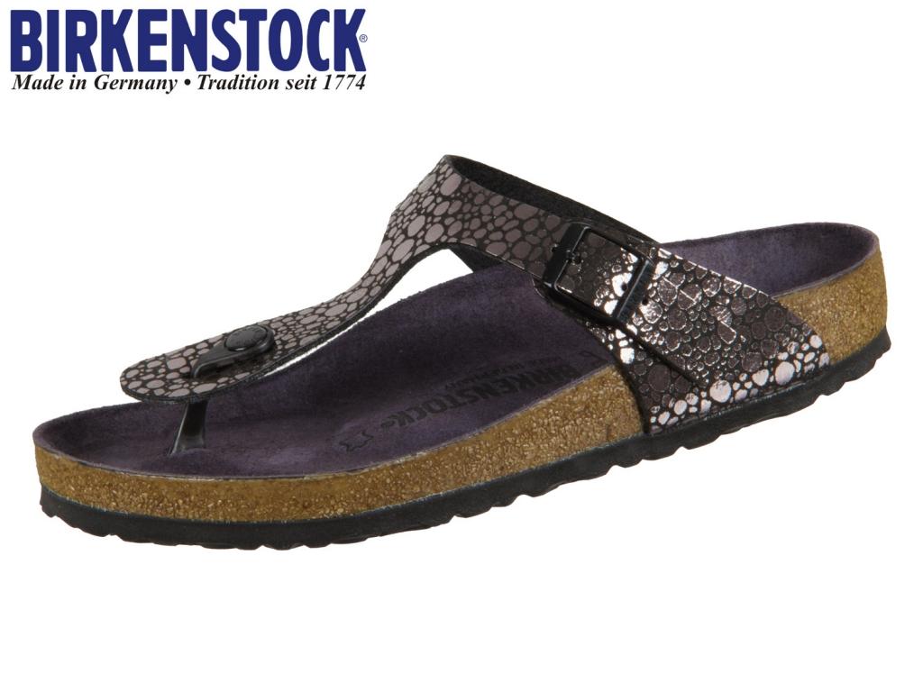 Birkenstock Gizeh 1008865 metallic stones black Birkoflor