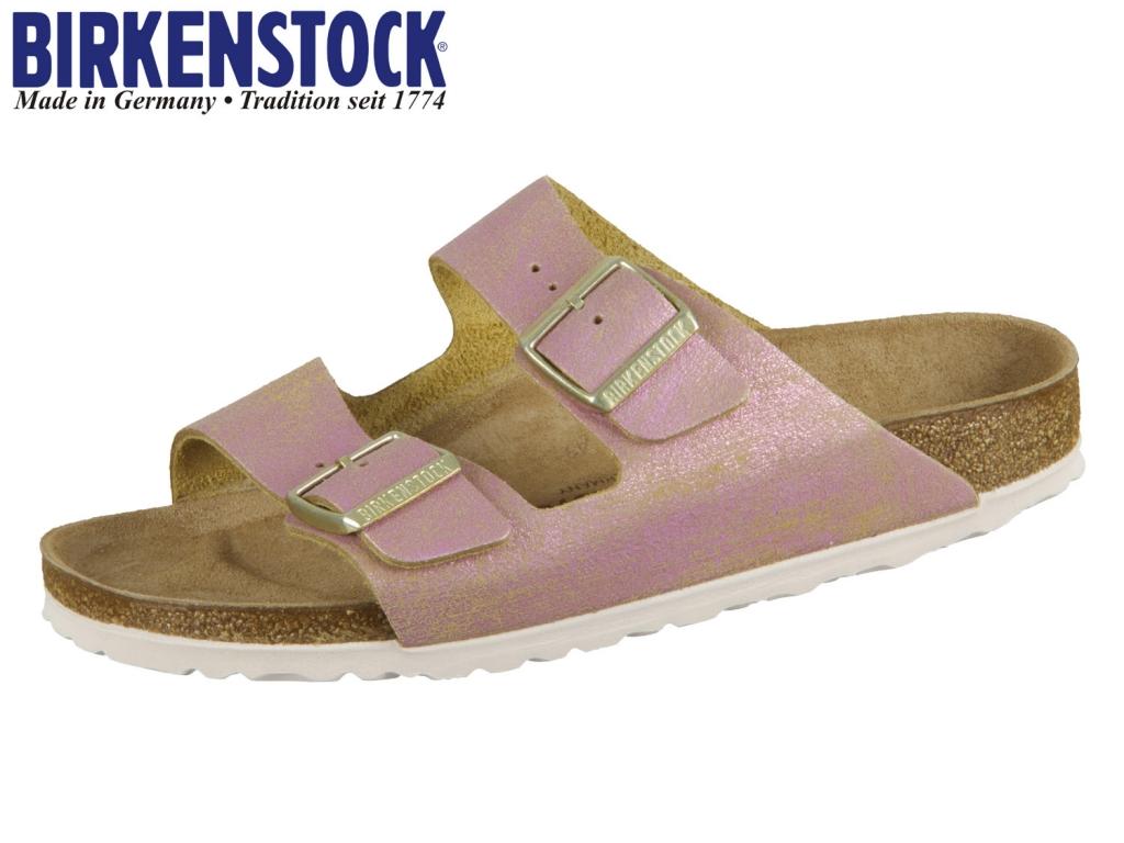 Birkenstock Arizona 1012876 washed metallic pink Leder