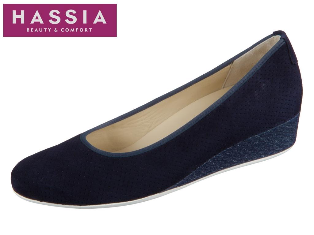 Hassia Nizza 7-302106-3234 blue jeans Samtziege Denim