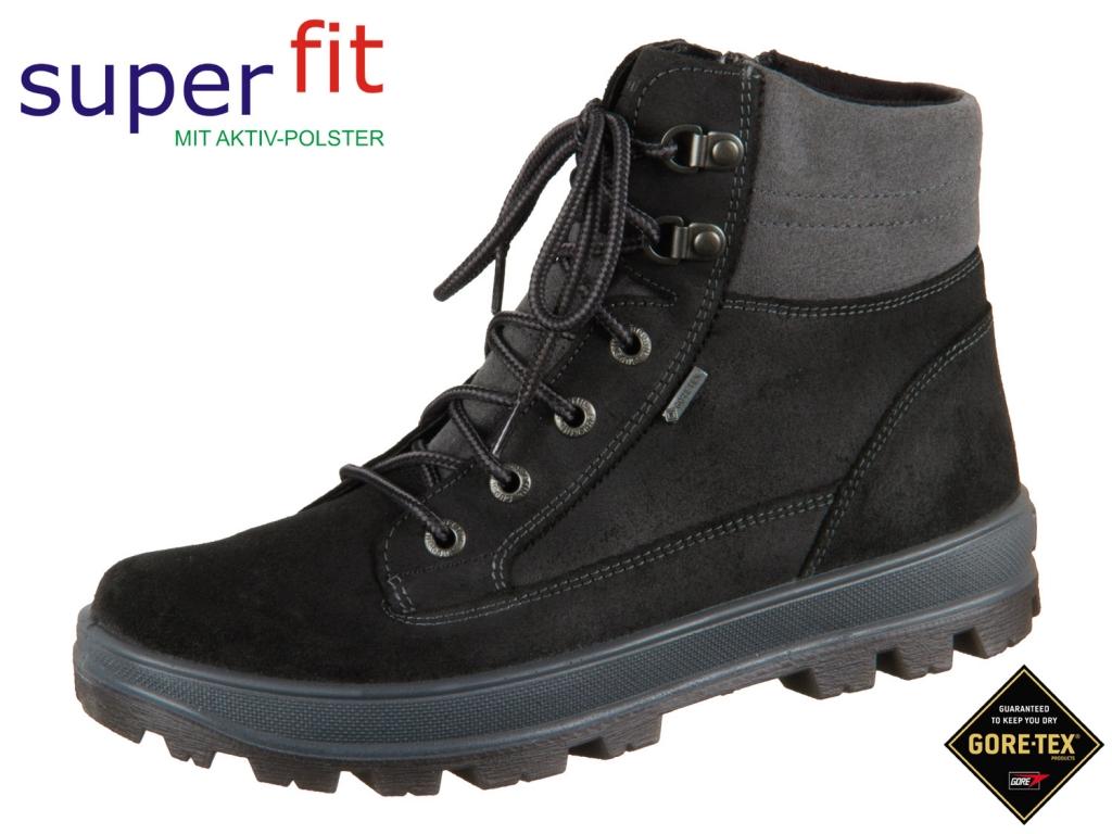 superfit Tedd 3-00473-03 schwarz grau Velour Textil