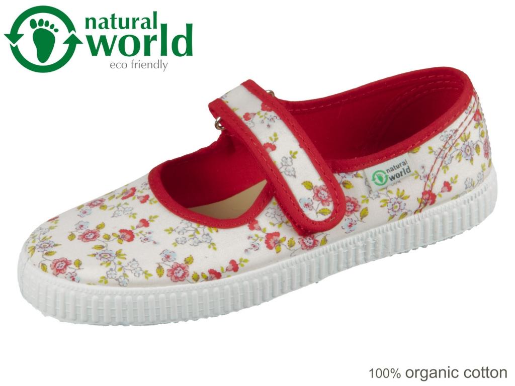 natural world W56027-02 rojo organic cotton
