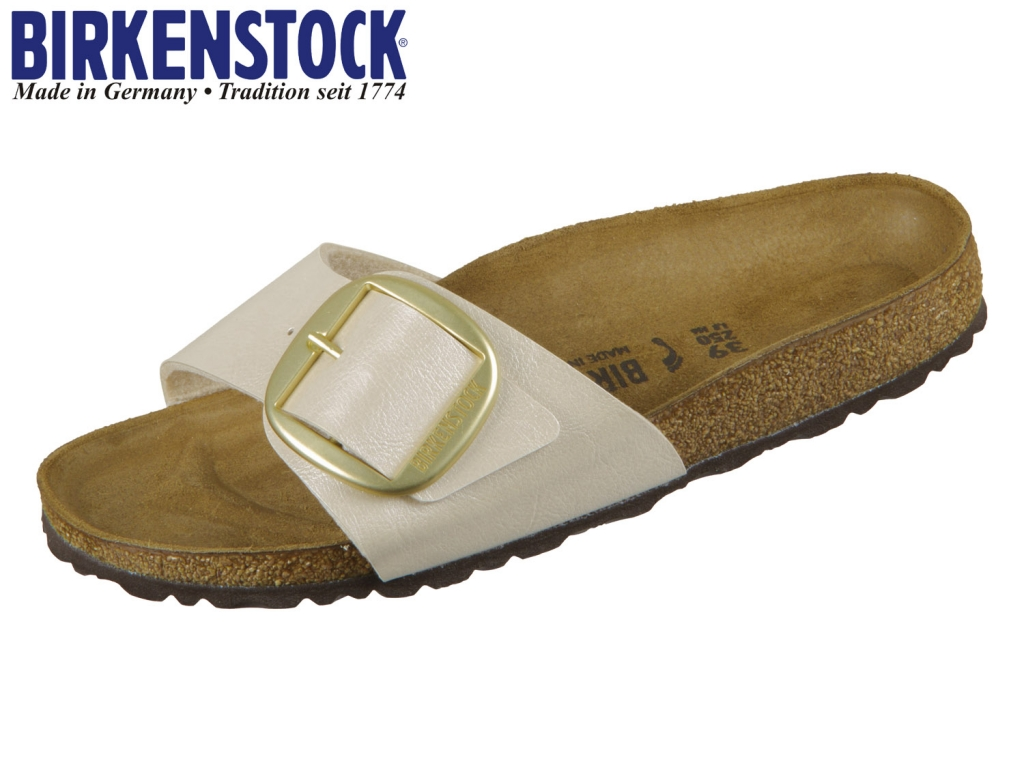 Birkenstock Madrid Big Buckle 1015279 gracefull pearl white Birkoflor