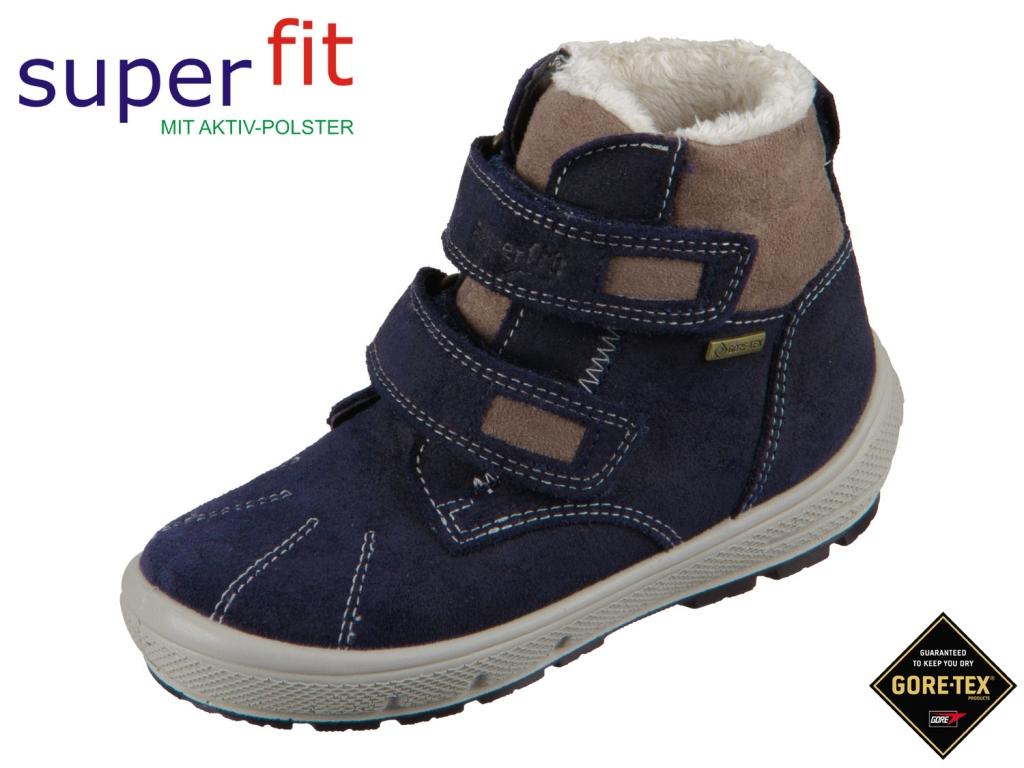 SuperFit Groovy 5-06308-80 blau braun Velour Textil
