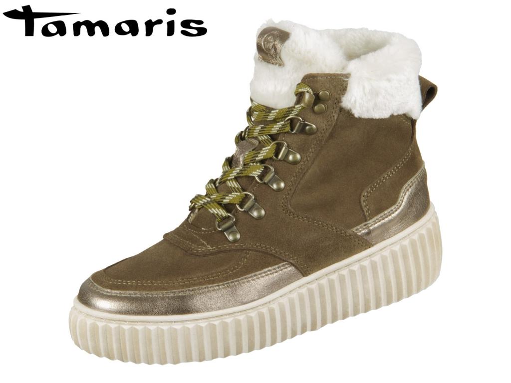 Tamaris 1-26260-23-724 forest combi Mix Leder Textil