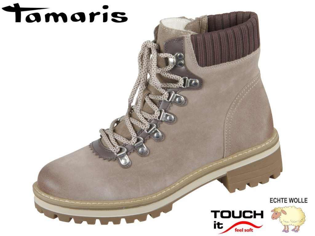 Tamaris 1-26296-23-375 antelope Mix Leder Textil
