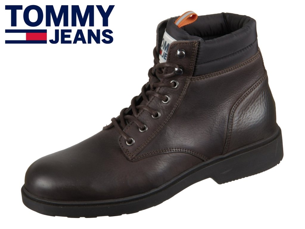 Tommy Hilfiger Casual Leather Boot EM0EM00314-212 coffee bean europe