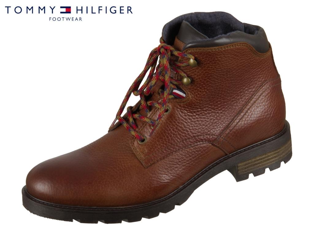 Tommy Hilfiger Textured Boot FM0FM02430-606 cognac Leather