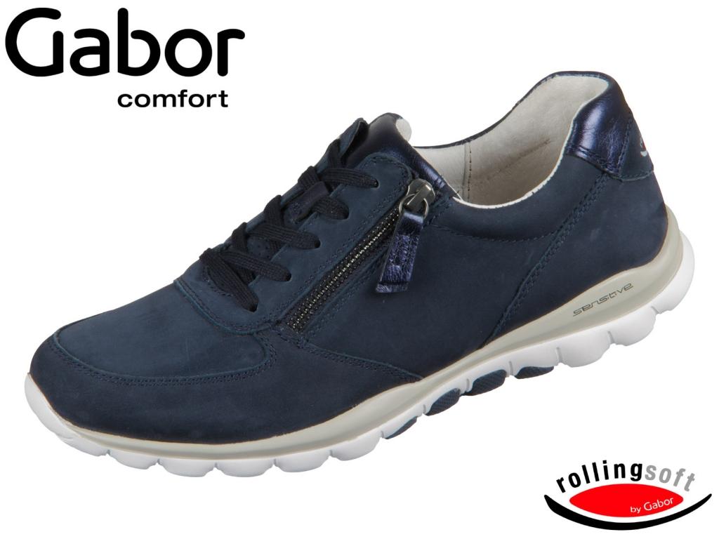 Gabor Rolling Soft 06.968-46 nightblue Nubuk Luxor